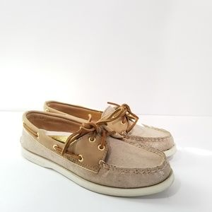 Milly for Sperry Women's Size 6.5 Top-Sider Taupe